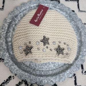 Gelso Bianco Starry Wool Alpaca Blend Hat